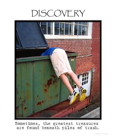 Identify theft with Dumpster Diving